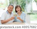 수석 부부 건배 와인 커플 이미지 40057682
