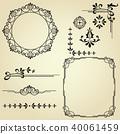 element, floral, monogram 40061459