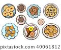 vector, bakery, dessert 40061812