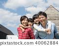 家庭藍天室外家庭圖像 40062884