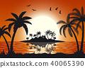 coconut, evening, island 40065390