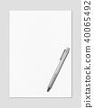 paper, blank, white 40065492