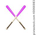 baseball bats isolated on white background 40066983