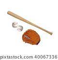 baseball theme isolated on white background 40067336