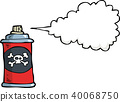 doodle gas bottle with poison.eps 40068750