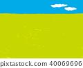 ท้องฟ้า,ท้องฟ้าเป็นสีฟ้า,ผืนนา 40069696
