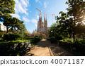 View of the Sagrada Familia Barcelona, Spain 40071187