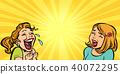 Two cheerful girlfriend girls laugh 40072295