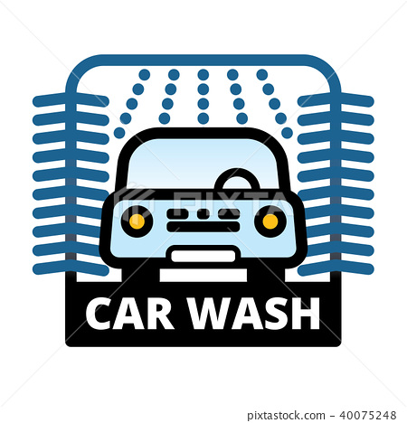 Passenger Car at automatic car wash station 40075248