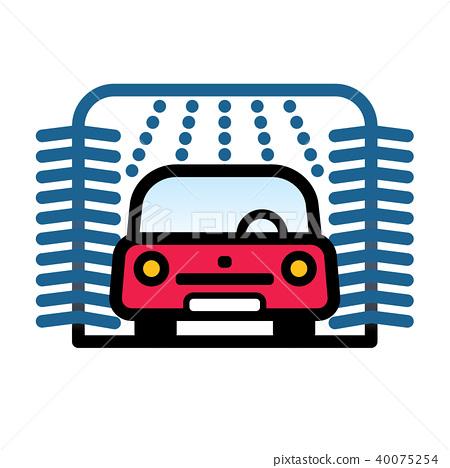 Passenger Car at automatic car wash station 40075254