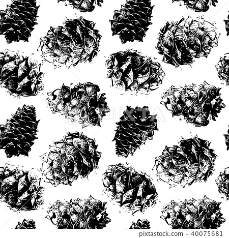 Cedar cones, seamless pattern for your design 40075681