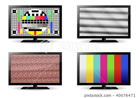 TV test pattern and no signal screens 40076471