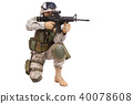 US soldier with rifle 40078608