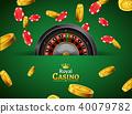 casino, roulette, vector 40079782