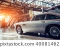 vintage transport retro car. 40081462