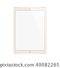Tablet in iPad style and pencil or stylus 40082265