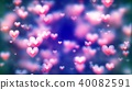 abstract, hearts, background 40082591