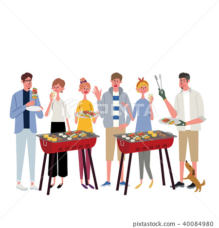 Barbecue illustrations 40084980