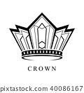 Crown Logo abstract design vector template 40086167