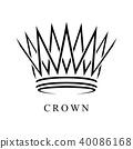 Crown Logo abstract design vector template 40086168