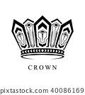 Crown Logo abstract design vector template 40086169