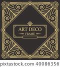 装饰 边界 框架 40086356
