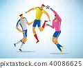 Illustration of soccer players 04 40086625