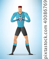 Illustration of football goalkeeper player 01 40086769