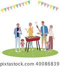 燒烤 家族 家庭 40086839