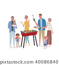 燒烤 家族 家庭 40086840
