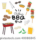 barbecued, bbq, icon 40086845