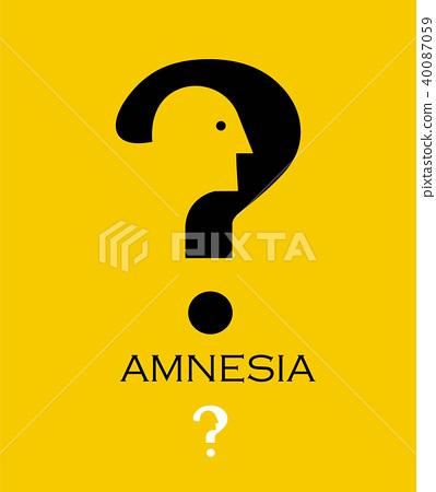 Amnesia.dementia, loss, memory. 40087059