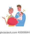 父母和孩子的插圖 40089844