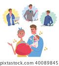父母和孩子的插圖 40089845