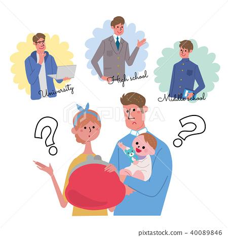父母和孩子的插图 40089846