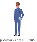 被充塞的衣領學生給男孩例證穿衣 40089853