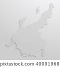 벡터, 지도, 도트 40091968