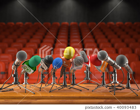 Press conference or interview event concept 40093483