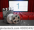 Cinema, movie or home video concept background 40093492