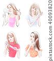 4種頭髮造型女孩 40093820