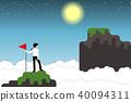 Businessman-mountain 40094311