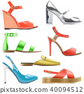 Vector Female Summer Shoes 40094512