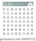Document Line Icons Set 40095732