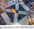 Aerial view of a big intersection in Tokyo 40096264