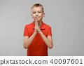 Teenage boy in T-shirt 40097601
