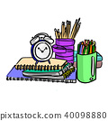 Items for students using in the school vector  40098880