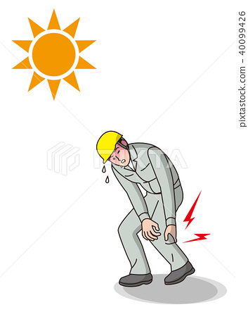 Heat stroke worker 40099426