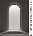 Arch shape door with light inside 3d render 40099447
