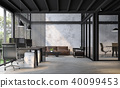 Industrial loft style office 3d render 40099453