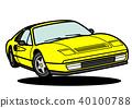 이탈리안 스포츠 노란색 점프 자동차 일러스트 40100788